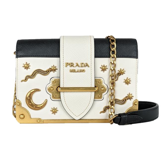 Item - Cahier Small Astrology White Leather Cross Body Bag