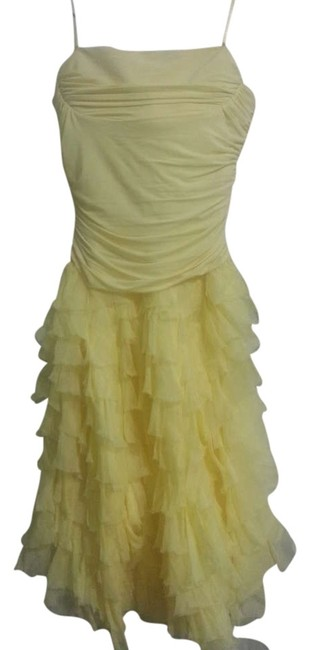 Preload https://img-static.tradesy.com/item/291771/bcbgmaxazria-yellow-knee-length-cocktail-dress-size-8-m-0-0-650-650.jpg