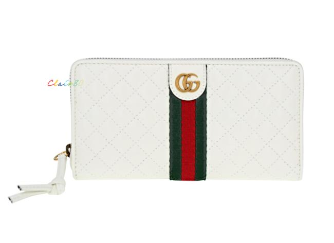 Item - Off White Double G Matelassé Leather Large Zip Around Wallet