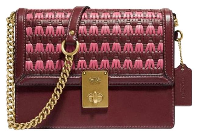 Item - 613 Hutton with Weaving In Wine Multi Leather Shoulder Bag