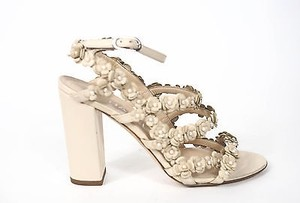 Chanel Strappy Pearl Beige Pumps