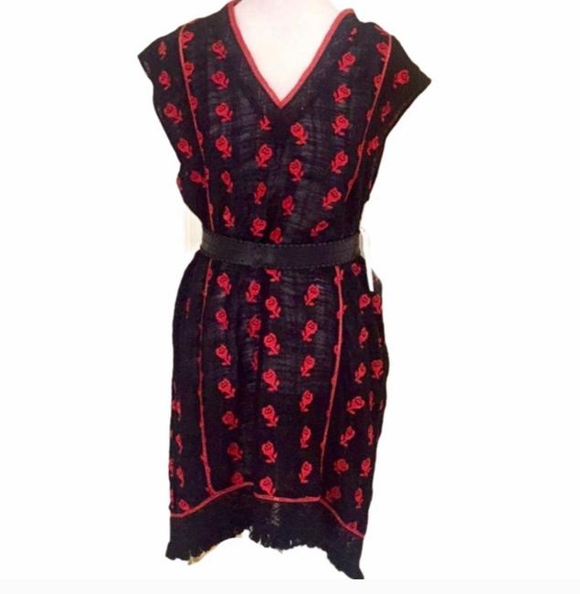 Item - Black/Red Short Casual Dress Size 4 (S)