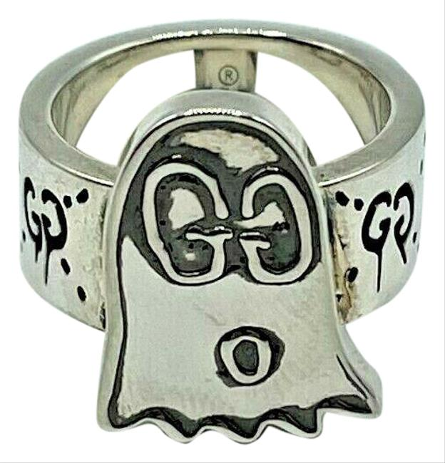 Item - Silver Gg Ghost with Engraved Gg Eyes It 14 / Us 7 457226 0701 Ring