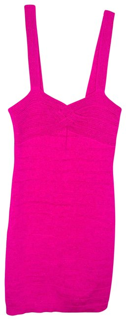 Item - Pink Bodycon Tiered Stretch Sleeveless Night Out Dress Size 8 (M)
