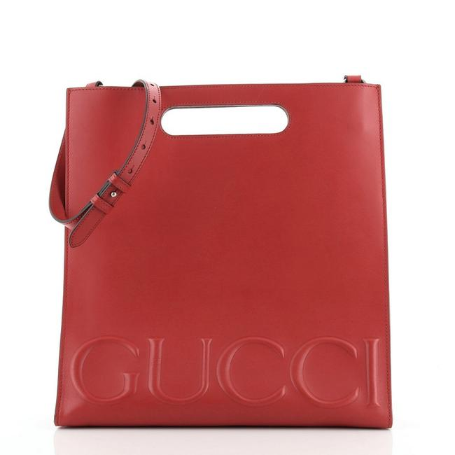 Item - Bag XL Large Red Leather Tote