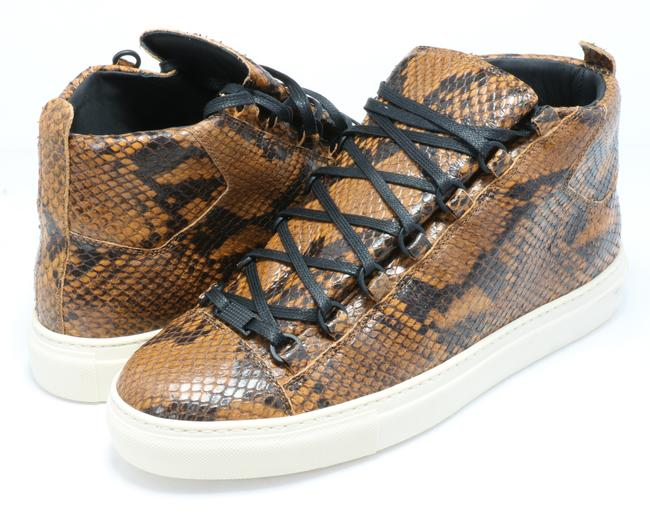 Item - Orange Python Arena High-top Sneakers Shoes