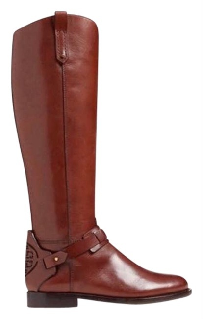 Item - Brown Derby Leather Riding Tall Logo Cognac Boots/Booties Size US 7 Regular (M, B)