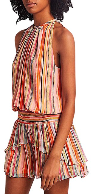 Item - Multi with Tag Striped Tobie Silk Short Night Out Dress Size 2 (XS)