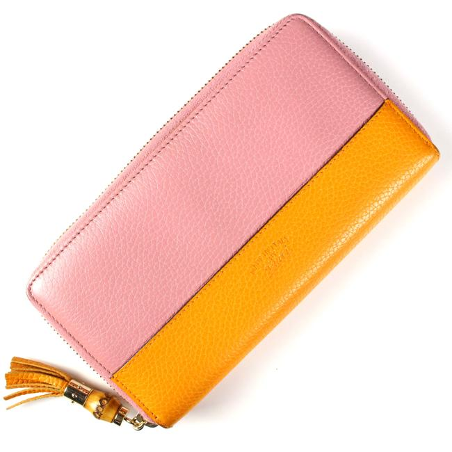 Item - Pink Exlusive Two Tone Leather Wallet