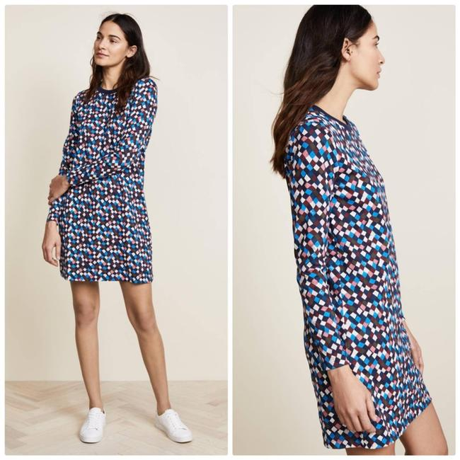 Item - Blue Maggie Cotton Shift In Navy Prism New Short Casual Dress Size 12 (L)