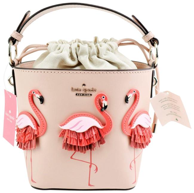 Item - Bucket By The Pool Flamingo Pippa Pink Leather Cross Body Bag