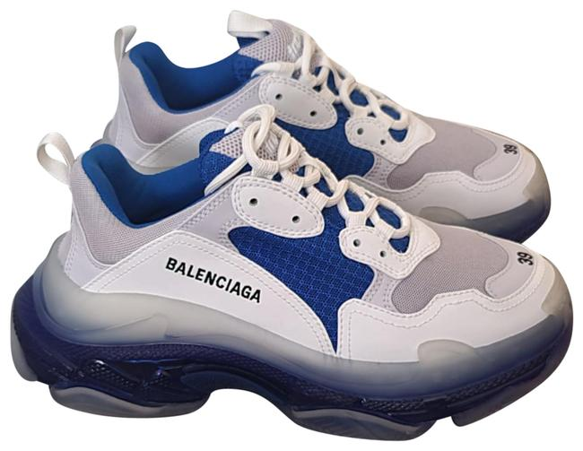 Item - White and Blue Triple S Sneakers Size EU 39 (Approx. US 9) Wide (C, D)
