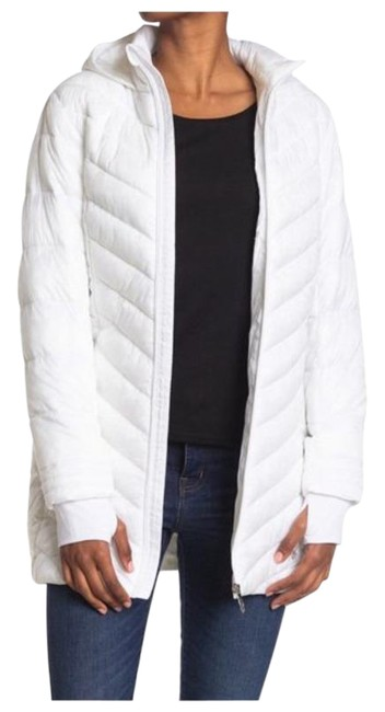 Item - White Boundless Hooded Long Puffer Jacket Style #spfdm155-100 Coat Size 14 (L)