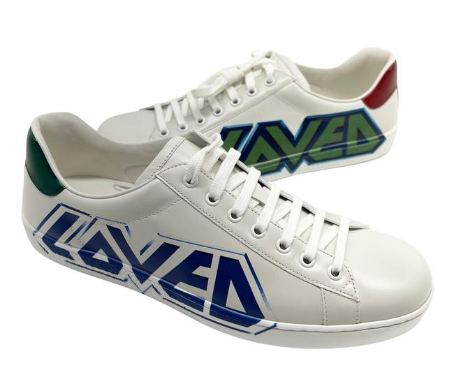 Item - White Ace Loved Leather Men's Sneakers Size US 9 Regular (M, B)