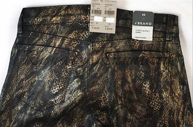 J Brand J Snakeprint Super Skinny Low Rise Pants