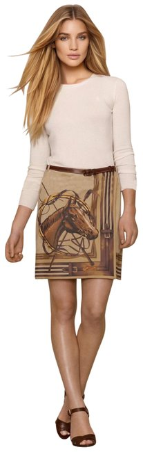 Item - Tan Brown *blue Label Equestrian Suede Wrap Skirt Size 10 (M, 31)
