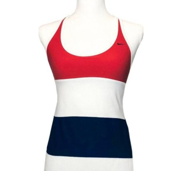 Item - Red Dri-fit American Flag Or French Flag Color Activewear Top Size 4 (S)