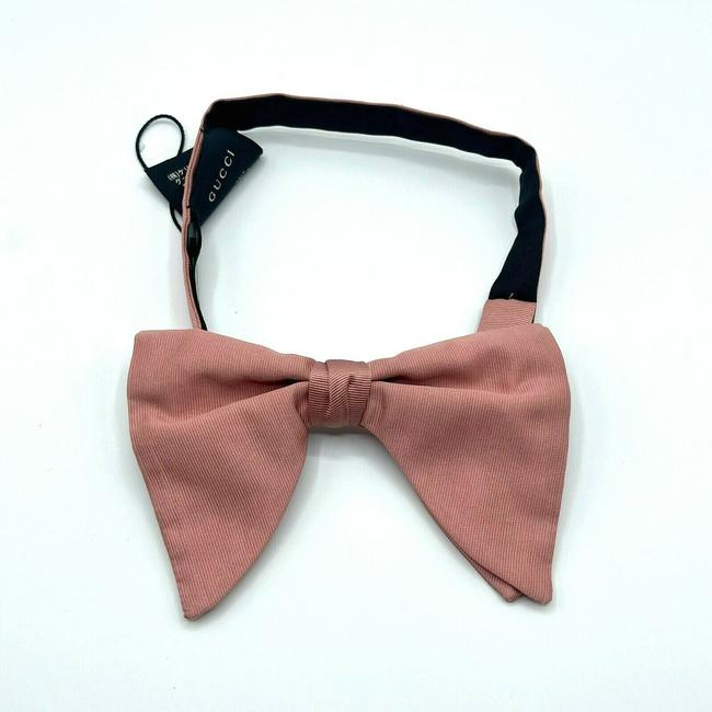 Item - Dust Pink W Silk/Linen Clip On W/Green Embroidered Insects 496143 4066 Tie/Bowtie