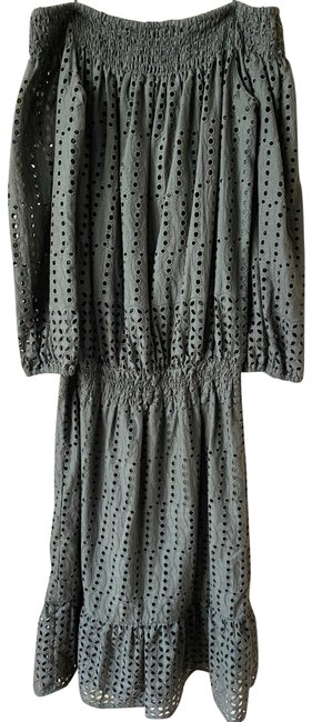Item - Olive Off The Shoulder Eyelet Msrp Small Long Casual Maxi Dress Size 4 (S)