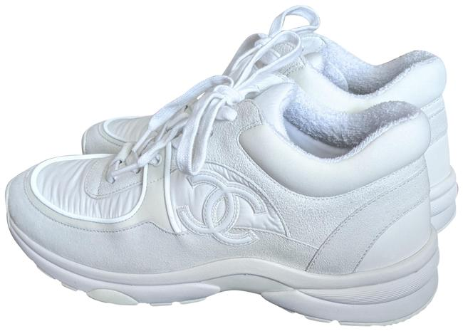 Item - White Suede Cc Sneakers Size EU 37.5 (Approx. US 7.5) Regular (M, B)