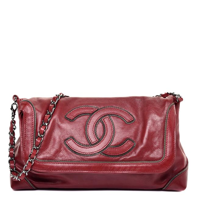 Item - Cc Chain Red Lambskin Leather Shoulder Bag