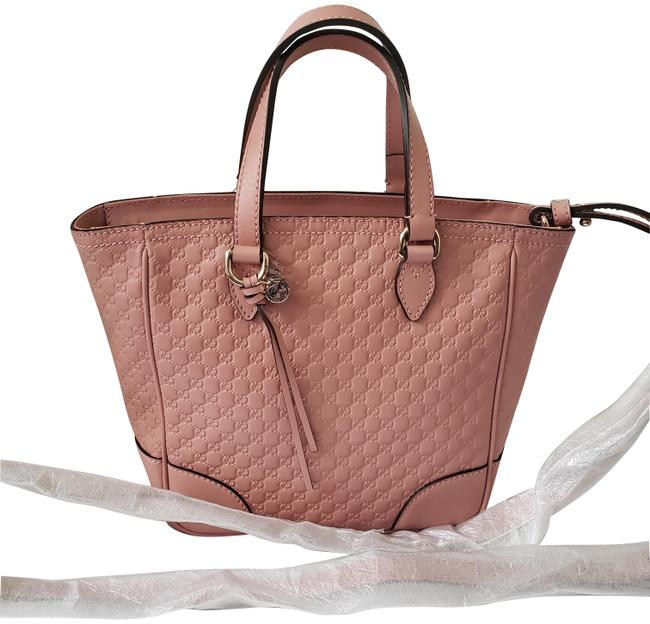 Item - Bree Signature Tote Pink Leather Cross Body Bag