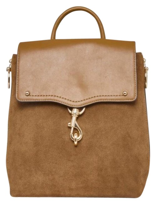 Item - Jody Suede/Leather Convertible Brown Suede Leather Backpack