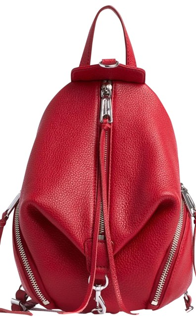 Item - Juliana Convertible Red Leather Backpack