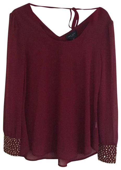 Item - Red And Maroon Golden Blouse Size 8 (M)