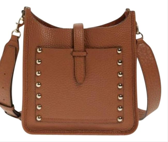 Item - Unlined Feed Almond Brown Leather Cross Body Bag