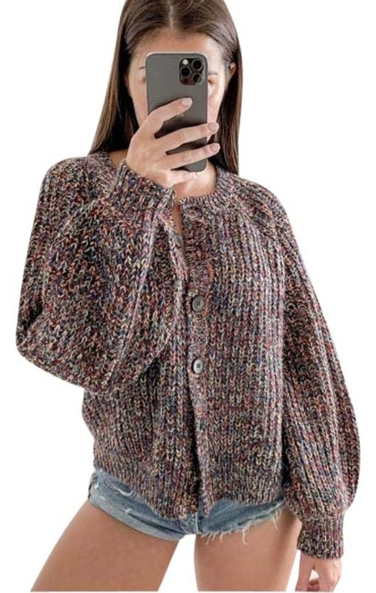 Item - Red Brown Sophomore Woodland Multi Cardigan Size 2 (XS)