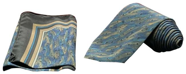 Item - Multi-color Abstract Designs Tie Silk Made In Italy