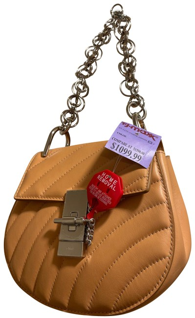 Item - Drew Quilted Mini Bijou with Silver Chain Handle Optional Strap Included -23.6 Inch Drop Beige Leather Shoulder Bag
