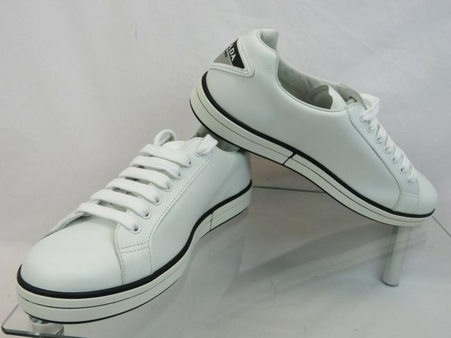 Item - White 4e3314 Leather Lace Up Logo Low Top Sneakers 9 Us 10 Italy Shoes