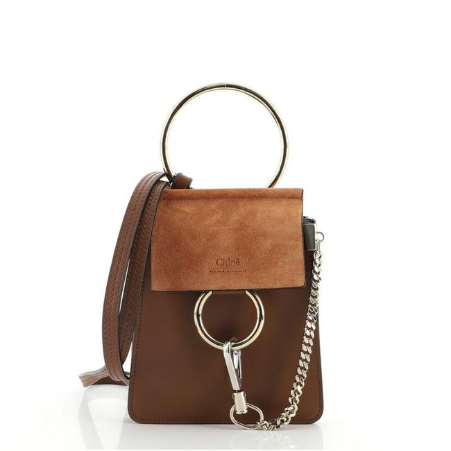 Item - Faye Bracelet and Mini Brown Leather Suede Cross Body Bag