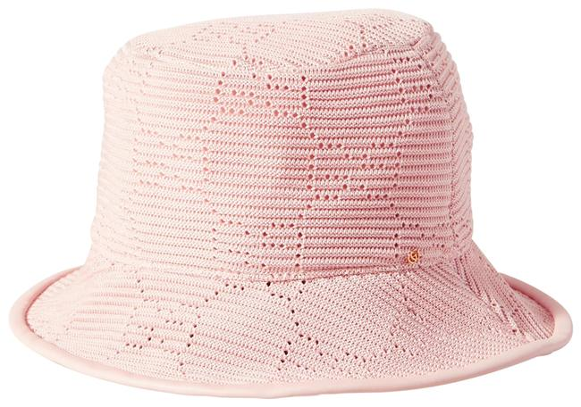 Item - Pink Bucket Malibu Leather-trimmed Crocheted Cotton Size Small Hat