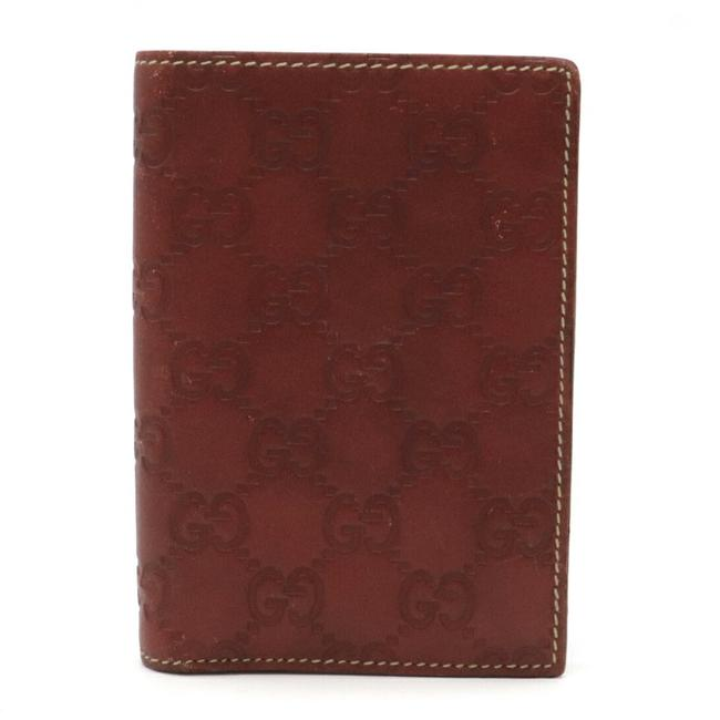 Gucci Brown Shima 2-fold Notebook Type Leather 146227 Wallet Gucci Brown Shima 2-fold Notebook Type Leather 146227 Wallet Image 1