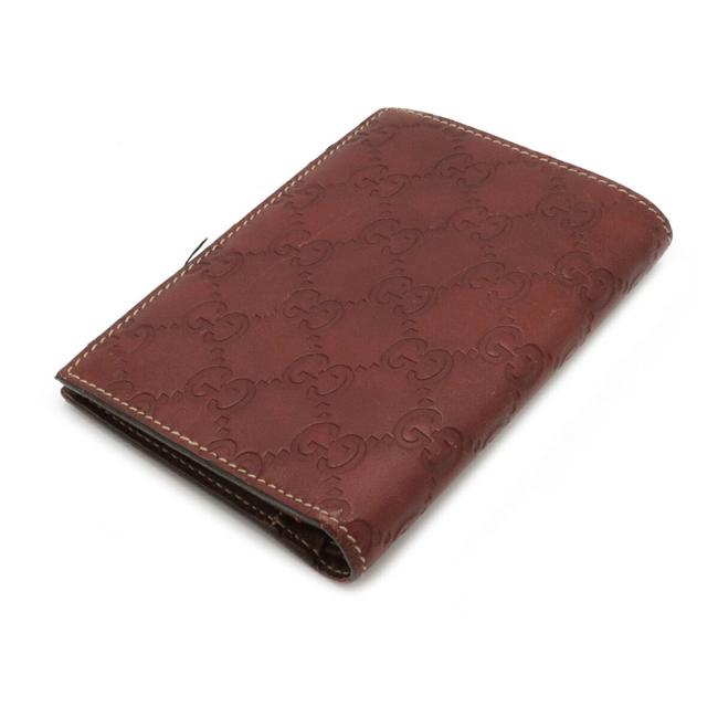 Gucci Brown Shima 2-fold Notebook Type Leather 146227 Wallet Gucci Brown Shima 2-fold Notebook Type Leather 146227 Wallet Image 2