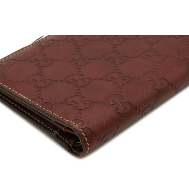 Gucci Brown Shima 2-fold Notebook Type Leather 146227 Wallet Gucci Brown Shima 2-fold Notebook Type Leather 146227 Wallet Image 3