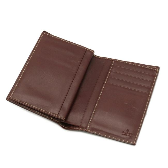 Gucci Brown Shima 2-fold Notebook Type Leather 146227 Wallet Gucci Brown Shima 2-fold Notebook Type Leather 146227 Wallet Image 4