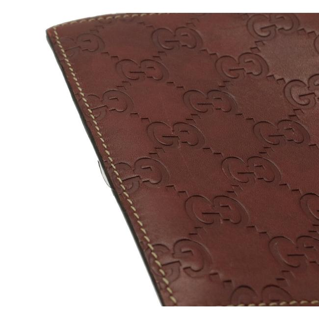 Gucci Brown Shima 2-fold Notebook Type Leather 146227 Wallet Gucci Brown Shima 2-fold Notebook Type Leather 146227 Wallet Image 7