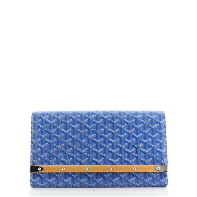Item - Monte Carlo Blue Coated Canvas Clutch