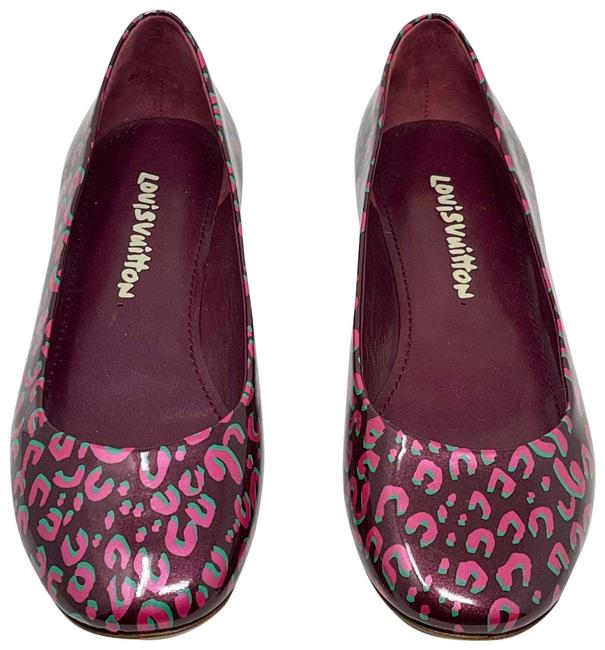 Item - Red Pink Green Sprouse Flats Size EU 37.5 (Approx. US 7.5) Regular (M, B)