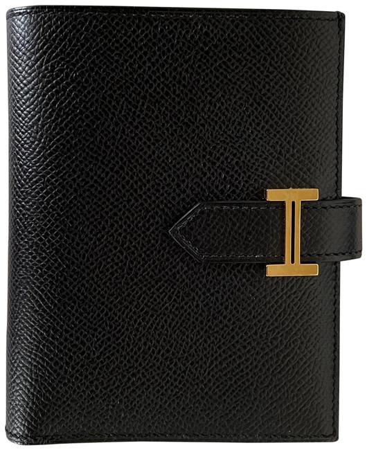 Item - Black Compact Epsom with Gold Hardware Wallet