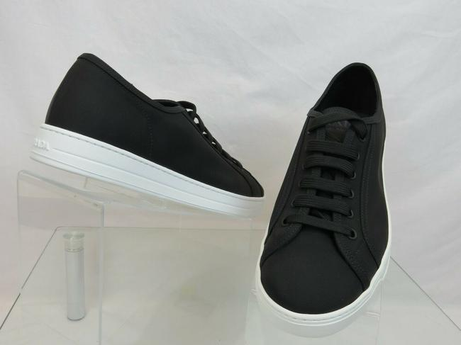 Item - Black 4e3397 Nylon Tech Lace Up Logo Low Top Sneakers 7.5 Us 8.5 Italy Shoes