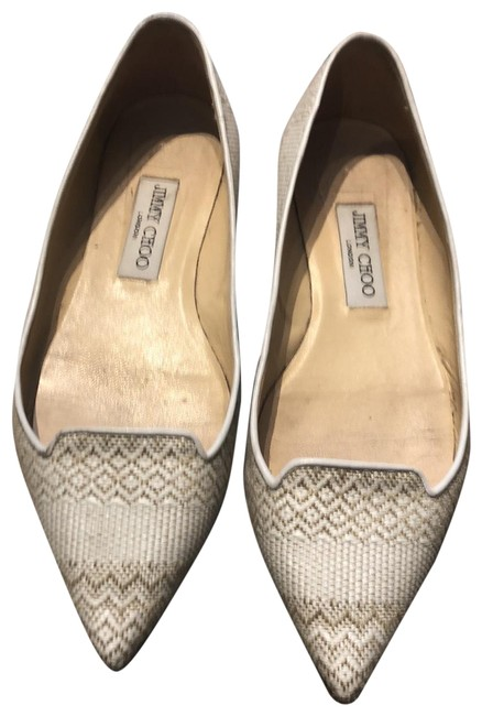 Item - Taupe and Off White Classic Ballet Flats Size EU 38.5 (Approx. US 8.5) Regular (M, B)