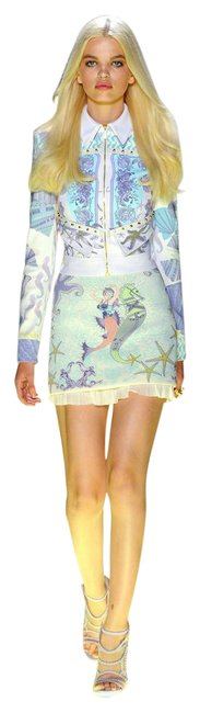 Item - White/Lilac S/S 2012 Look # 5 New Seashell Print Jacket and 38 Shorts Suit Size 2 (XS)