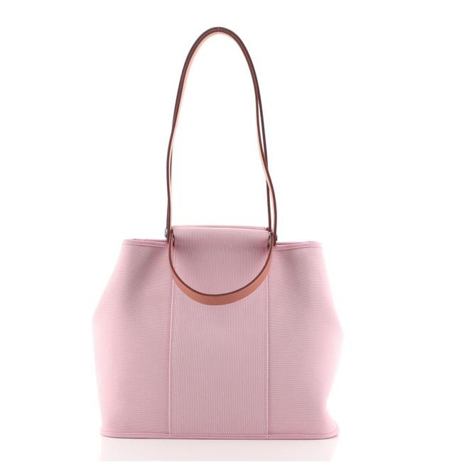 Item - Cabag Handbag Toile and Leather 32 Pink Canvas (Plain) Tote