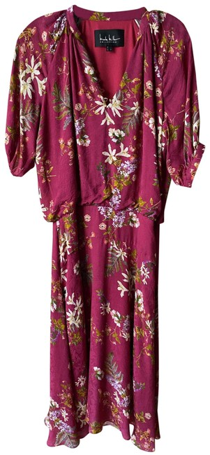 Item - Purple Green White Floral Msrp Long Casual Maxi Dress Size 4 (S)