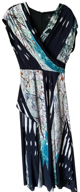 Item - Black Teal White Msrp Long Casual Maxi Dress Size 4 (S)